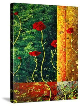 Poppy Madness-Megan Aroon Duncanson-Stretched Canvas Print