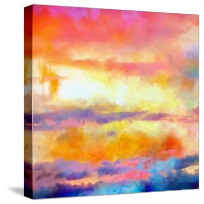 What a Color Art Series Abstract-Ricki Mountain-Stretched Canvas Print