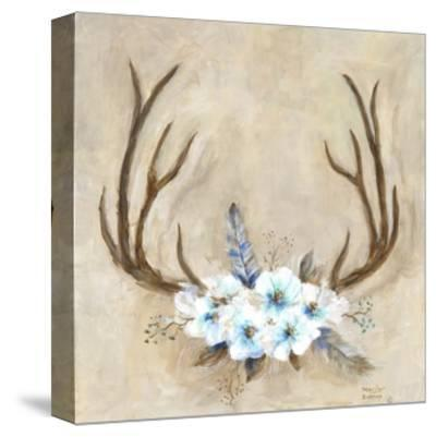 Antlers and Flowers-Marilyn Dunlap-Stretched Canvas Print