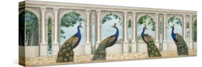 Elegant Peacock I-Wild Apple Portfolio-Stretched Canvas Print