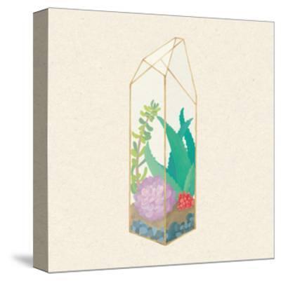 Succulent Terrarium I-Wild Apple Portfolio-Stretched Canvas Print