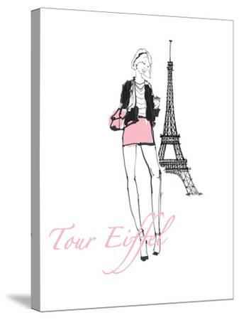 French Chic I Pink on White-Avery Tillmon-Stretched Canvas Print