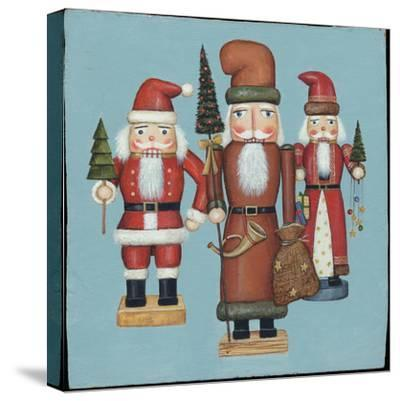 Santa Nutcrackers-David Cater Brown-Stretched Canvas Print