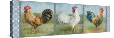Noble Roosters V-Danhui Nai-Stretched Canvas Print