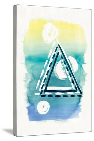 Offset Shapes Triangle-Elyse DeNeige-Stretched Canvas Print