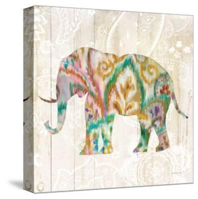Boho Paisley Elephant II v2-Danhui Nai-Stretched Canvas Print
