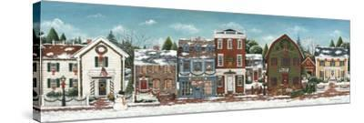 Christmas Village Crop-David Cater Brown-Stretched Canvas Print