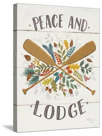 Peace and Lodge IV v2-Janelle Penner-Stretched Canvas Print