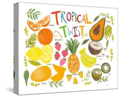 Fruity Smoothie II on White-Farida Zaman-Stretched Canvas Print