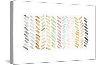Watercolor Swipes-Elyse DeNeige-Stretched Canvas Print