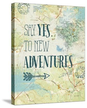 Map Sentiments II-Katie Pertiet-Stretched Canvas Print