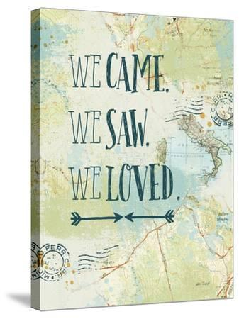 Map Sentiments III-Katie Pertiet-Stretched Canvas Print