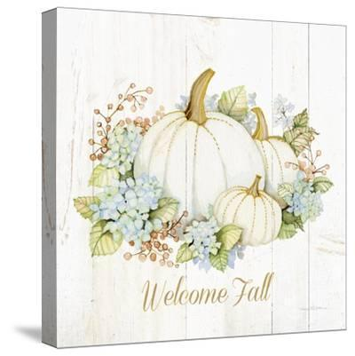 Autumn Elegance I Gold Welcome Fall-Kathleen Parr McKenna-Stretched Canvas Print