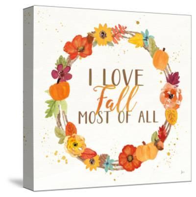 Harvest Wishes I-Jess Aiken-Stretched Canvas Print