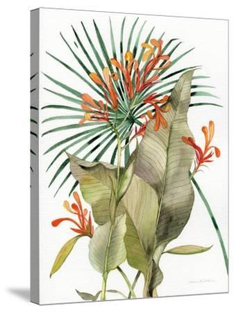 Botanical Flame Lilies-Kathleen Parr McKenna-Stretched Canvas Print