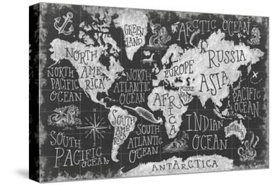 Mythical Map I-Mary Urban-Stretched Canvas Print