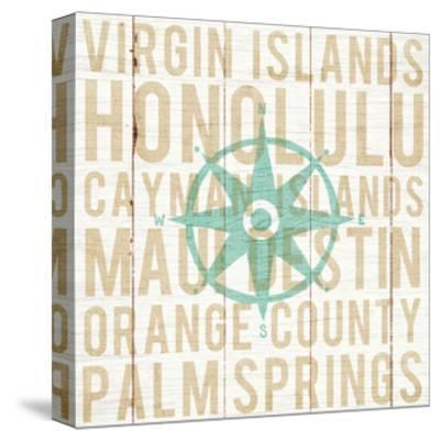 Bon Voyage Compass-Michael Mullan-Stretched Canvas Print