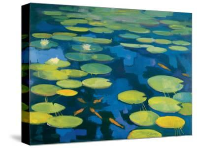 Lily Pond with Koi-Michael Clark-Stretched Canvas Print