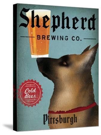 German Shepherd Brewing Co Pittsburgh Black-Ryan Fowler-Stretched Canvas Print