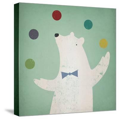Circus Polar Bear-Ryan Fowler-Stretched Canvas Print