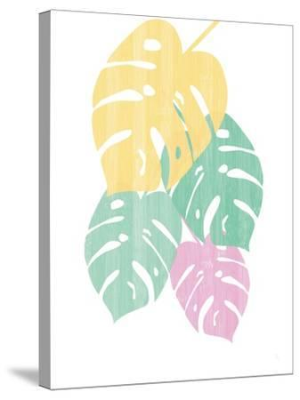 Monstera III Bright on White-Sarah Adams-Stretched Canvas Print