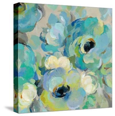 Fresh Teal Flowers III-Silvia Vassileva-Stretched Canvas Print