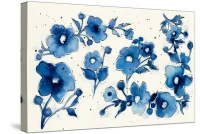 Independent Blooms Element V-Shirley Novak-Stretched Canvas Print