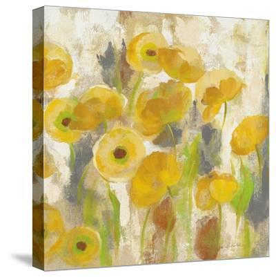 Floating Yellow Flowers V-Silvia Vassileva-Stretched Canvas Print