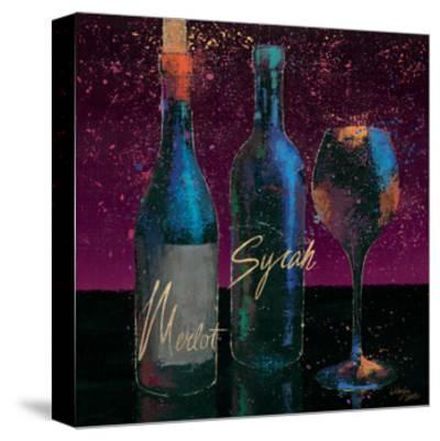 Wine Splash Dark III--Stretched Canvas Print