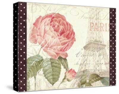 La Vie En Rose I with Border--Stretched Canvas Print