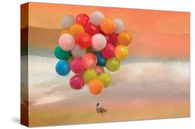 Balloon Ride-Nancy Tillman-Stretched Canvas Print