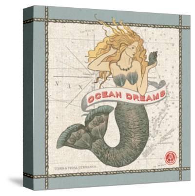 Drift Away Mermaid-Sue Schlabach-Stretched Canvas Print
