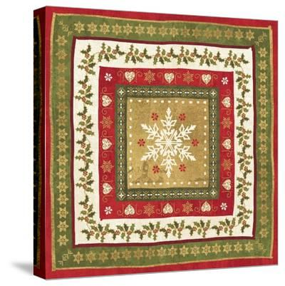 Simply Christmas Tiles I-Veronique Charron-Stretched Canvas Print