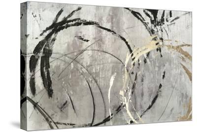 Grey Abstract I-PI Studio-Stretched Canvas Print
