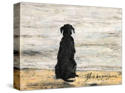 Black Dog Going Home-Sam Toft-Stretched Canvas Print