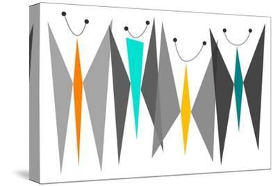 Butterflies - Grays-Tonya Newton-Stretched Canvas Print