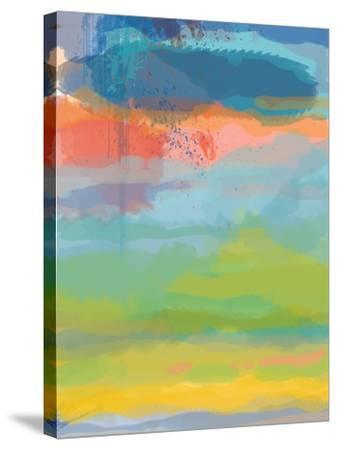 Coral Sky-Jan Weiss-Stretched Canvas Print