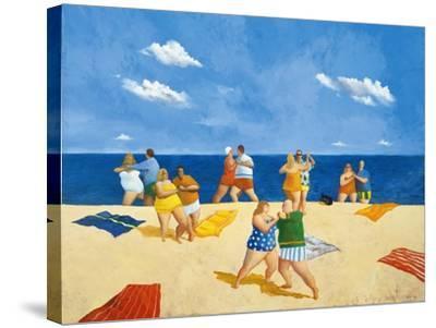 Tango Beach-Michael Paraskevas-Stretched Canvas Print