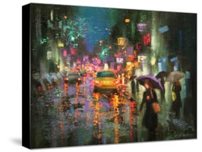 Night Rain in Village-Chin H^ Shin-Stretched Canvas Print