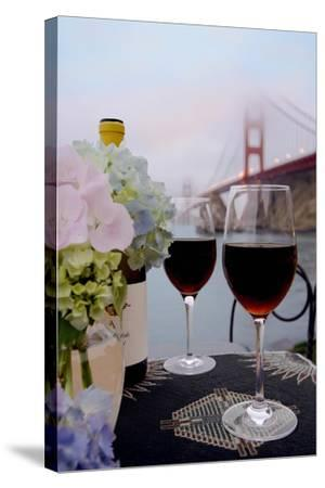 Dream Cafe Golden Gate Bridge #14-Alan Blaustein-Stretched Canvas Print