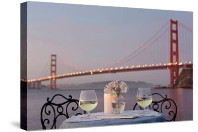 Dream Cafe Golden Gate Bridge #77-Alan Blaustein-Stretched Canvas Print