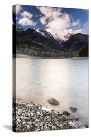 Silver Lake Flat At Sunset-Lindsay Daniels-Stretched Canvas Print