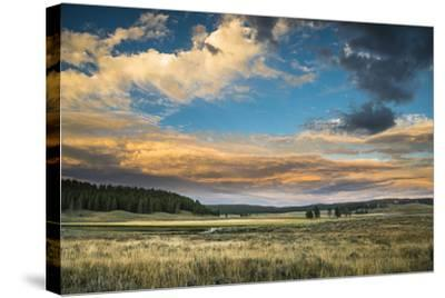 A Sunset Sky Hangs Over The Yellowstone River In The Hayden Valley, Yellowstone National Park-Bryan Jolley-Stretched Canvas Print