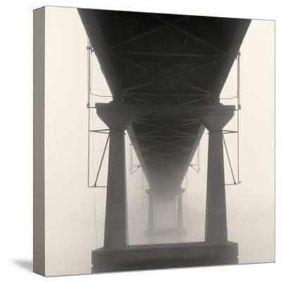 Bridge in Fog-Nicholas Bell-Stretched Canvas Print