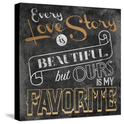 Love Story-Jace Grey-Stretched Canvas Print