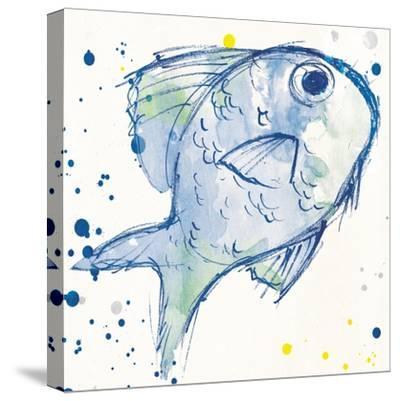 Minimal Sketch Fish-Milli Villa-Stretched Canvas Print