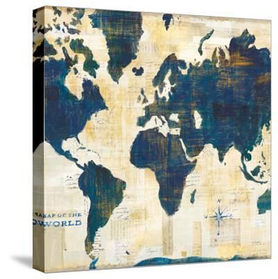 World Map Collage v2-Sue Schlabach-Stretched Canvas Print