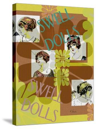 Swell Dolls-Ruth Palmer-Stretched Canvas Print