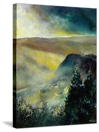 Mist in Frahan-Pol Ledent-Stretched Canvas Print
