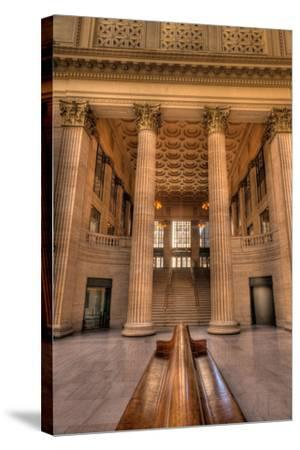Chicagos Union Station Waiting Hall-Steve Gadomski-Stretched Canvas Print